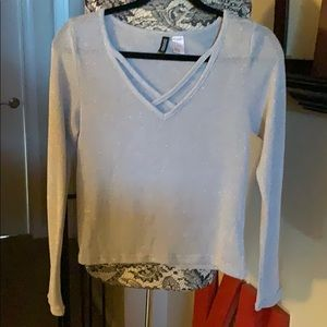 Divided Siver  shimmery top medium